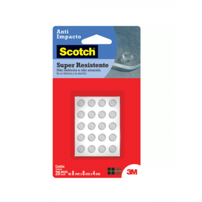 Protetor Anti-Impacto Redondo Pequeno 3M Scotch 20 peças