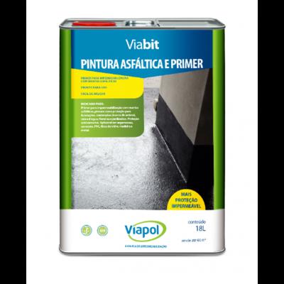Tinta Asfáltica Impermeabilizante Viabit 18L Viapol